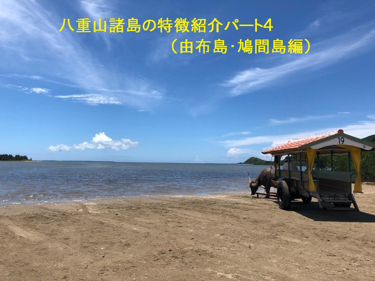 八重山諸島の特徴紹介パート4(由布島・鳩間島編)